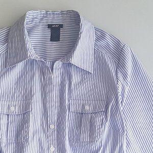 H&M V-Neck Button Shirt
